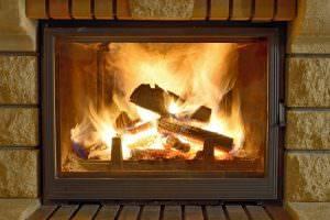 Bild von Feuer im Kamin