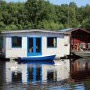 Bild von Hausboot auf See