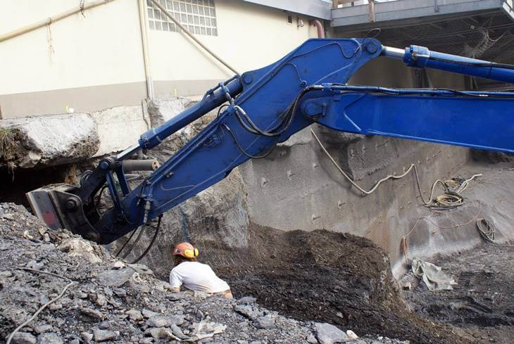 Bild von Bodenaushub für Kellersanierung
