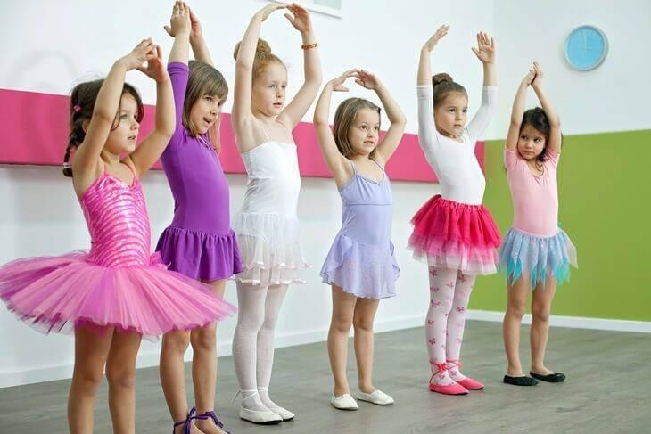 Bild von Kindern beim Ballettunterricht