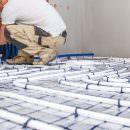 Bild von Installation einer Fußbodenheizung