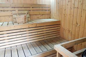 Bild von Sauna aus Holz