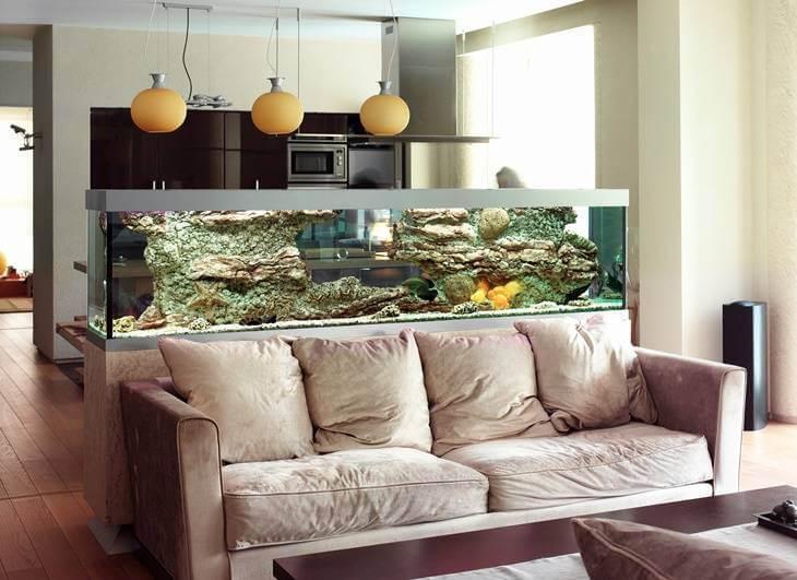 Bild von Wohnzimmer mit Aquarium